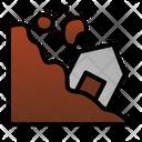 Landslide Disaster Danger Icon