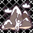 Landslide Rockfall Landslip Icon