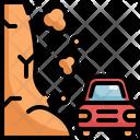 Landslide Car Natural Disaster Icon