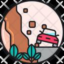 Landslide Landslip Rockfall Icon