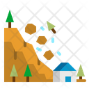Landslide Dangerous Disaster Icon