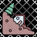 Landslide Landslip Avalanche Icon