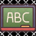 Language Education Balck Board Icon