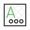 Language Input Text Icon