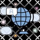 E Learning Global Education Global Language Icon
