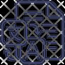 Document Language Translate Icon