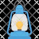 Oil Lantern Camping Icon