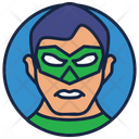 Green Lantern Warrior Superhero Icon