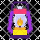 Vintage Torch Lantern Camping Lantern Icon