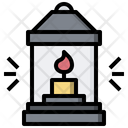 Oil Lamp Flame Camping Icon