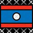 Laos Flag Country Icon