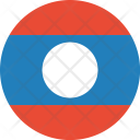 Laos Flag World Icon