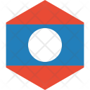 Laos Pdr Flag Icon