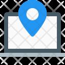 Laptop Navigation Location Icon