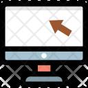 Laptop Cursor Arrow Icon