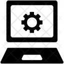 Laptop Gear Display Icon