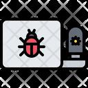 Laptop Virus Bug Icon