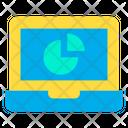 Laptop Web Analysis Website Monitoring Icon