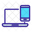 Laptop Smartphone Connection Icon
