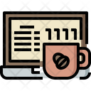Laptop Cup Hot Icon