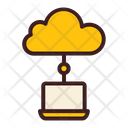 Laptop Cloud Connection Online Storage Icon
