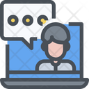 Laptop Customer Support Computer Icon