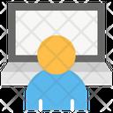 Laptop Businessman Employee Icon