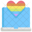 Laptop Lgbt Homosexual Icon