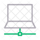 Laptop Sharing Connection Icon