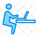 Laptop Person Workplace Icon