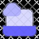 Laptop Cloud Connection Online Data Icon