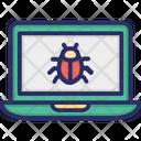 Laptop Bug Virus Icon