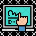 Laptop Electronic Signature Icon