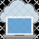 Cloud Computing Laptop Icon