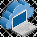 Laptop Computer Cloud Icon