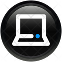 Media Laptop Minicomputer Icon