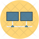 Laptop Share Network Icon