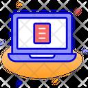 Laptop Document Presentation Icon