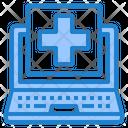 Laptop Hospital Health Icon