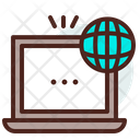 Laptop Worldwide Connection Worldwide Networking Icon