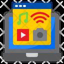 Laptop Multimedia Video Icon