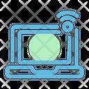 Laptop Wifi Notebook Icon