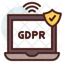 Laptop Laptop Network Gdpr Network Icon
