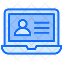 Laptop User Interview Icon