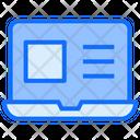 Laptop Web Learning Icon