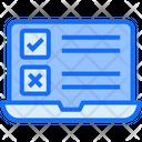 Laptop Task Online Icon