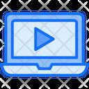 Laptop Video Online Icon