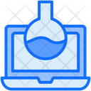 Laptop Online Laboratory Icon