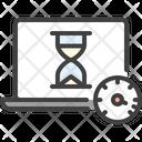 Laptop Accelerate Speedometer Icon