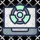 Laptop Acid Rain Nuclear Icon